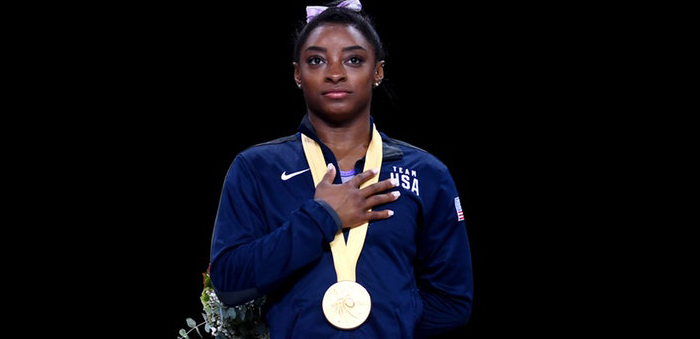 Simone Biles breaks record for world medals won by a gymnast