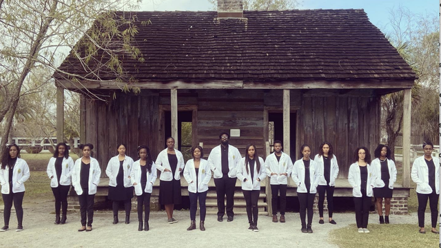 Image of 15 black medical students posing at Louisiana plantation goes viral