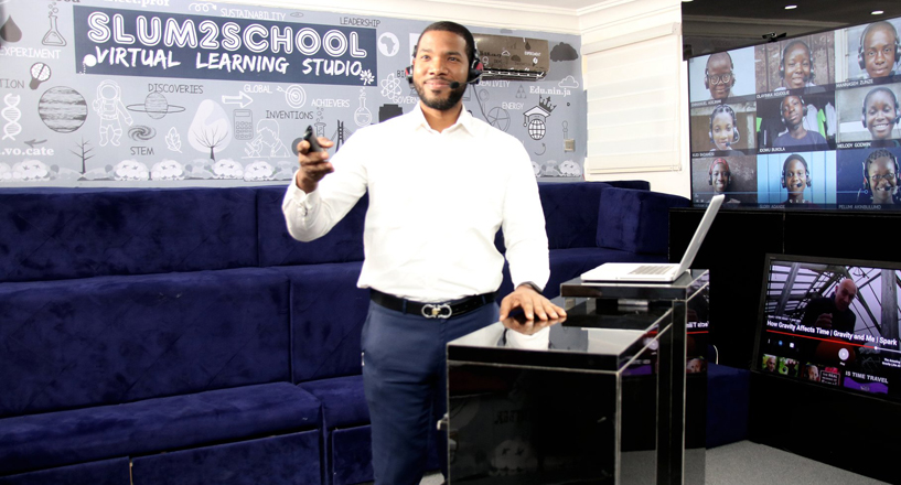 Nigerian man Otto Orondaam builds virtual class for 948 kids in Africa
