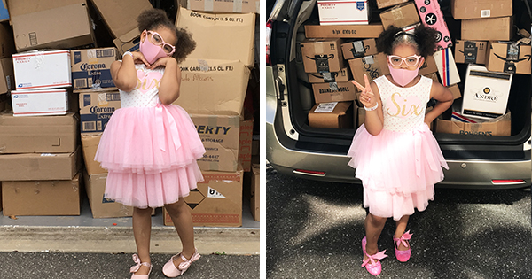 6-Year Old Girl Donates 5,000+ Books to Kids During Pandemic