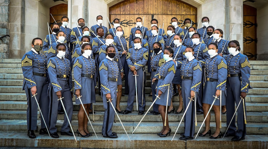 The U.S. Military Academy Class of 2020 included 38 black women, the highest number since 1980, when women graduated for the first time. (Army Sgt. 1st Class Josephine Pride/U.S. Military Academy)