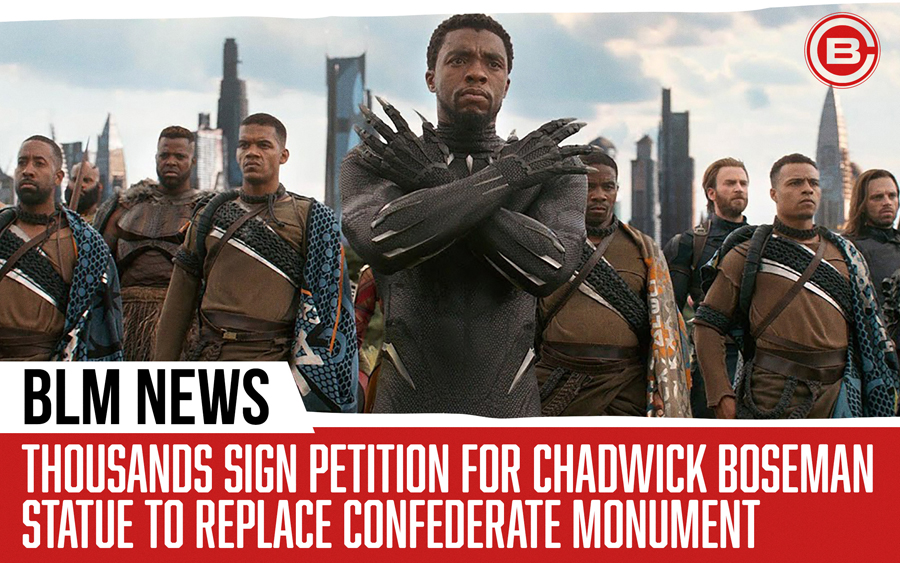 Thousands Sign Petition For Chadwick Boseman Statue To Replace Confederate Monument